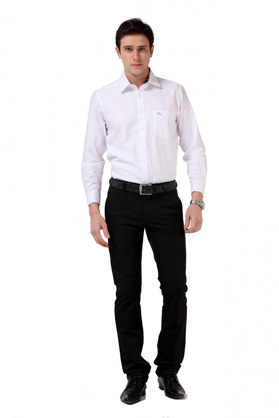 Classic casual business Mens shirts fashion 2015 long ... Classic Casual Fashion Men