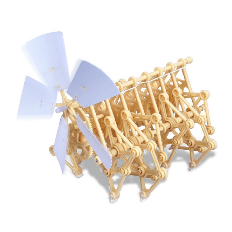 Creative Wind Powered DIY Walker Robot Toy Mini Beach Creature Assembly Model Kit FCI#(China (Mainland))