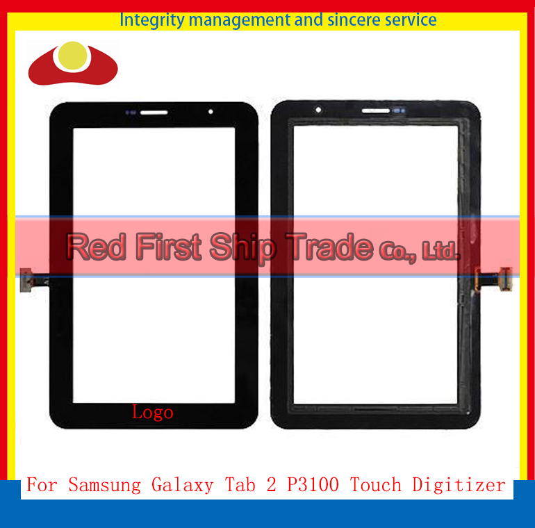 10Pcs/lot  Original 7 For Samsung Galaxy Tab 2 7.0 P3100 Touch Screen With Digitizer Panel Front Glass Lens<br><br>Aliexpress