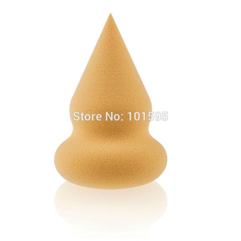 1 PCS nova novidade Natural macia esponja Flawless suave Pro maquiagem esponja de pó de algodão gotas sopro de cosméticos