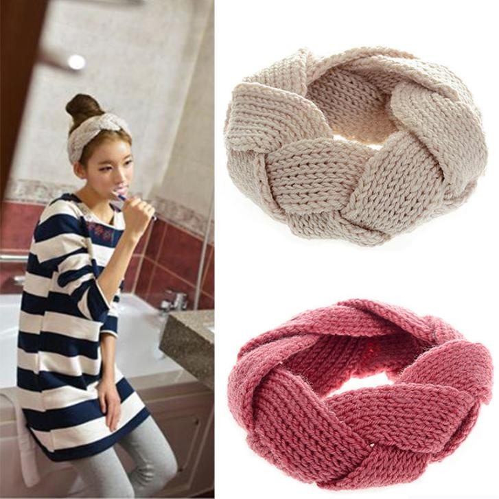New Crochet Twist Knitted Headwrap Headband Winter Warmer Hair Band for Women Accessories Hair Band for Girl Womens Turban(China (Mainland))