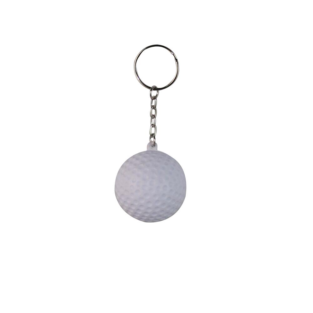 Golf Ball 4cm Soft PU Foam Keychains Key Chain Key Ring Plastic Crafts Pendant Printed LOGO Advertising Promotional Products(China (Mainland))