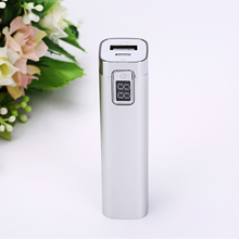 mini handheld 2600mah 5v 1A mobile phone Power Bank External Battery Charger 18650 Powerbank external backup battery led digits