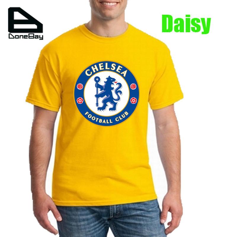 New Top T Shirt Men Cotton FC Chelsea Professional Football Club Mens 3d T-Shirt Printed L.F.C Casual Sport Tee Shirts(China (Mainland))