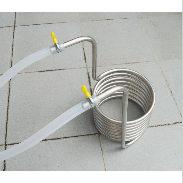 5 meter length Beer Brew Stainless Steel Coil Tube Heat Exchanger homebrew wort chiller(China (Mainland))