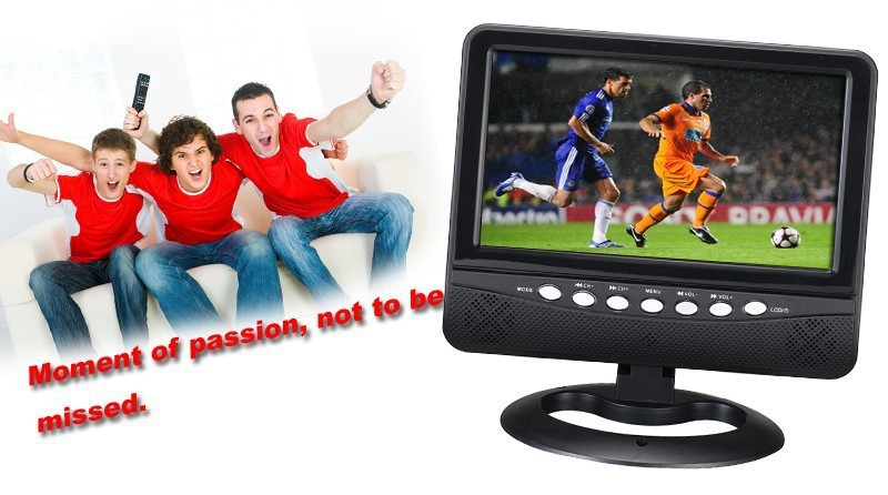 New 7 inch TFT LCD Color Analog Portable TV Support SD/MMC Card USB Flash Disk Outdoor Or In Car(China (Mainland))