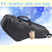 Professional brand design portable durable luxury PU leather alto saxophone bags Eb sax soft case cover backpack shoulder straps(China (Mainland))