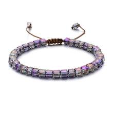 ZMZY New Fashion Style Woman Bracelet Wristband Glass Crystal Bracelets Gifts Jewelry Accessories Handmade Wristlet Trinket(China)