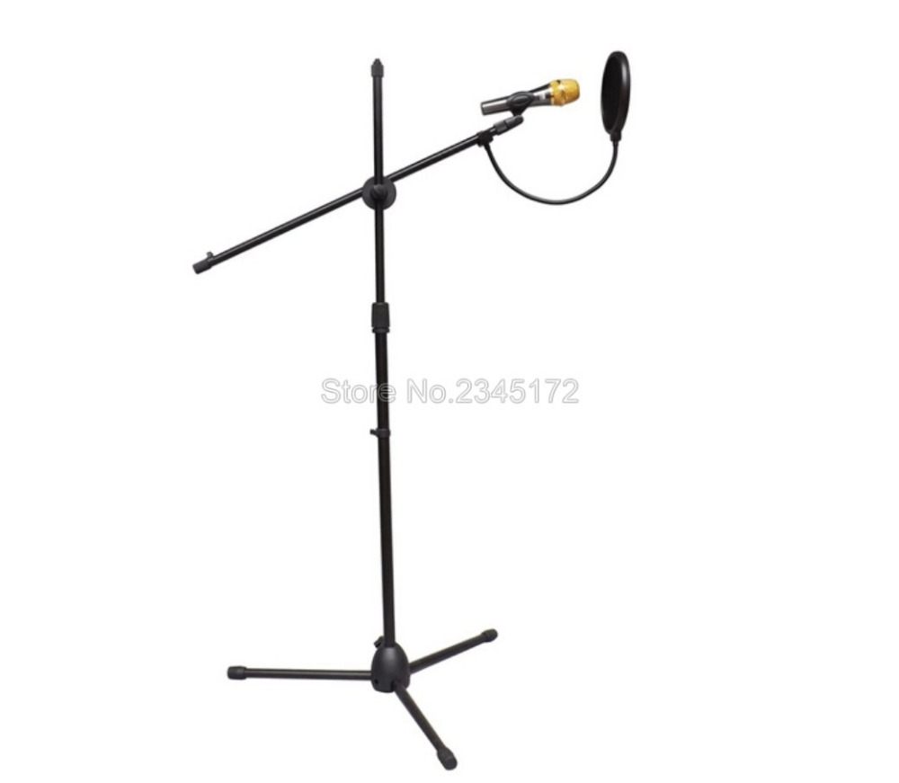Microphone Pop Filter Double Studio Equipment Microfone For Essential Recording Studio Microphone With Flexible Gooseneck Holder(China (Mainland))