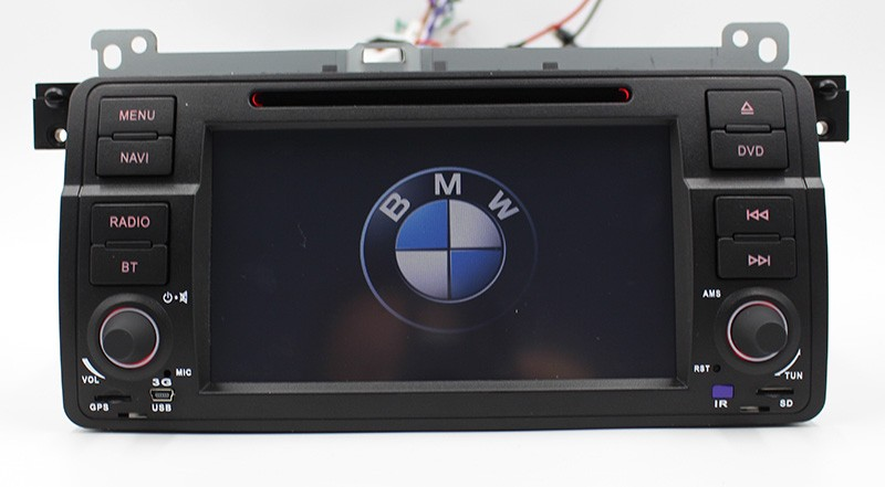 "7"" HD Touch Screen Car DVD Player GPS Navigation for BMW E46 3 Series M3 GPS Bluetooth Radio USB IPOD Steering wheel control"