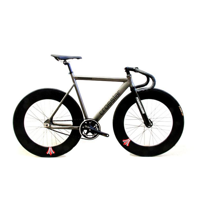 HOT SALE T2 Fixed Gear Bike Urban Track Bike Fixie Carbon Fiber Fork Commute Bike 90mm RIM road bike fixie bicycle(China (Mainland))