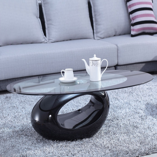 Coffee Table Simple Modern Creative Small Coffee Table: Simple Creative Heart Shaped Glass Coffee Table Oval