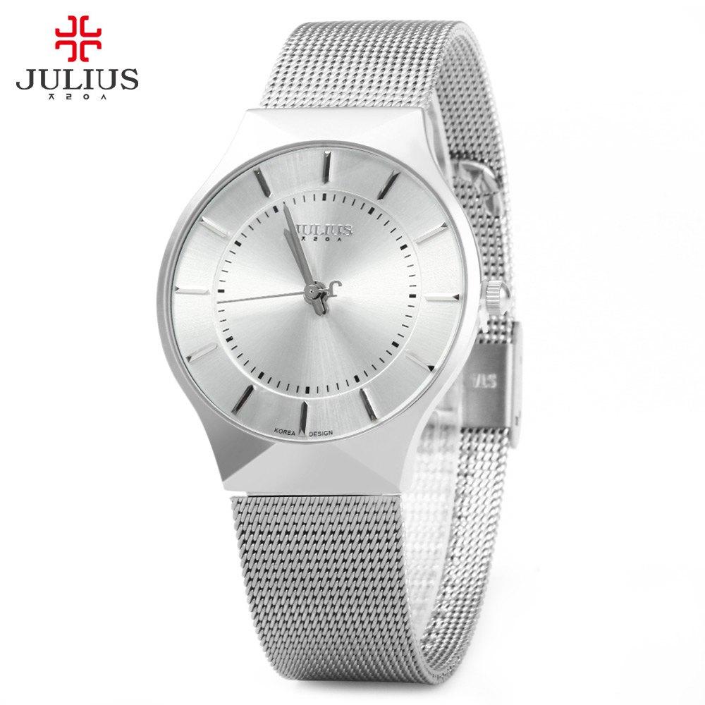 Julius JA - 577 Male Quartz Wrist Watch Ultrathin Stainless Steel Mesh Band Men Wrist watch Ultra Thin Dial Men's Watches(China (Mainland))