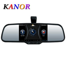 New 5.0″Touch Android 4.0 GPS WiFi FM HD 1080P camera parking Rearview mirror video recorder Car DVR GPS Track+Brackets