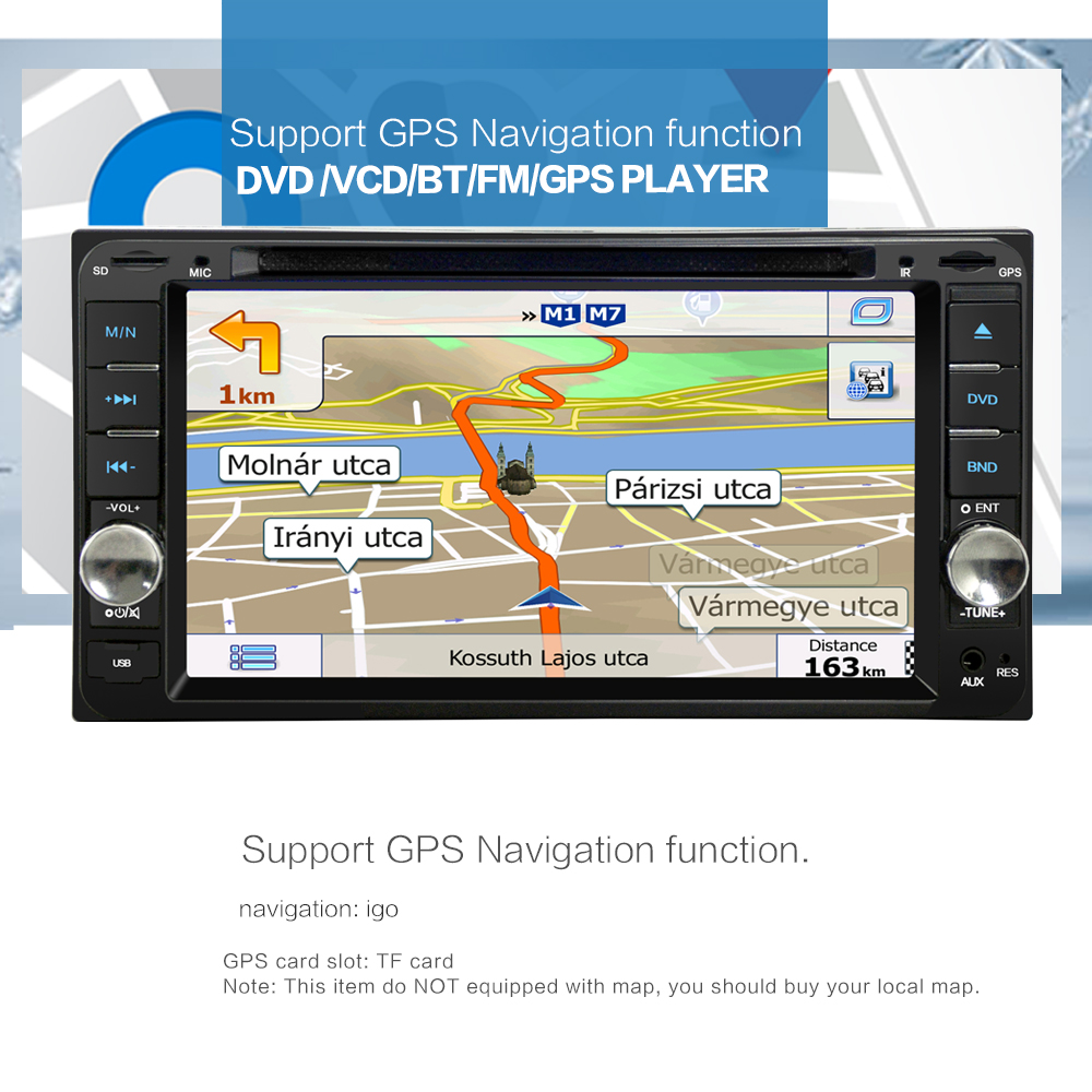 Win CE6.0 2DIN Car DVD Player 7 Inch Touch Screen Suport Radio Win CE6.0 GPS Navigation For toyota/toyota avensis/toyota corolla(China (Mainland))