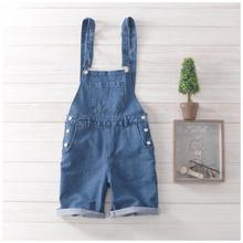 Free Shipping 2016 Men's Jean Overalls Mens Denim Bib Overalls Blue Shorts Jumpsuit Mens Jean Shorts Jeans Man
