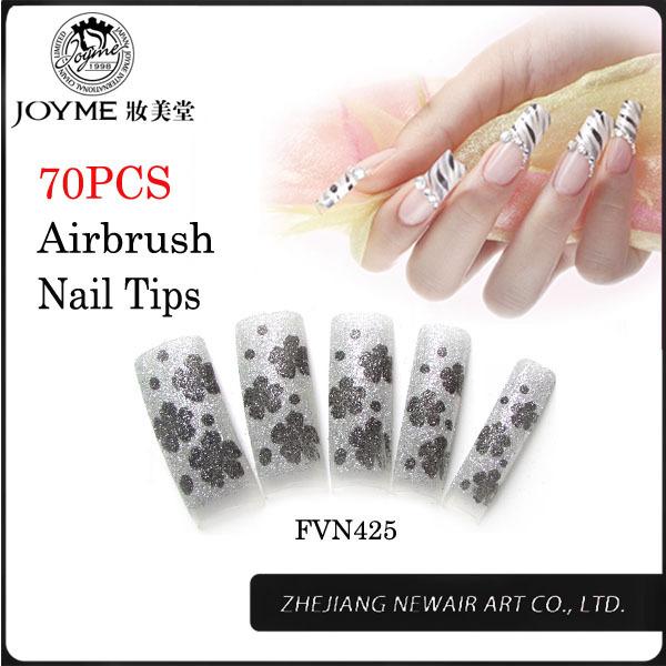 Glitter Nail Tip 11 Sizes and Modern French False Nail Tips for Salon DIY Nail Art Design Free Shipping Love Fashion Manicure(China (Mainland))
