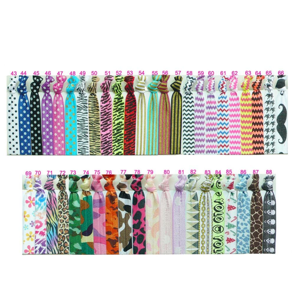 25 Pcs/lot Cheveron/Flower Print Knot Ribbon Hair Ties/Headband/Wristbands Elastic Girl Ponytail Holder Hair Accessories(China (Mainland))