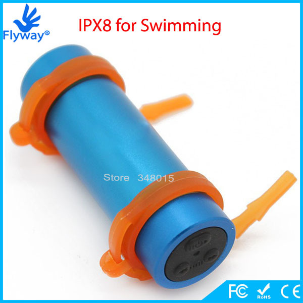 Colorful 4GB Swimming Diving Waterproof IPX8 Water Proof MP3 Agua Players Sport MP3 Player with Headphones USB Charging Cable(China (Mainland))