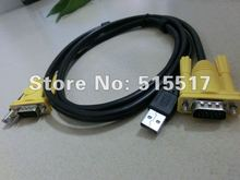 TOP quality LATEST USB A/B male HD15 male VGA KVM switch cable for Monitor Mouse Keyboard Printer manufactory FREE SHIPPING