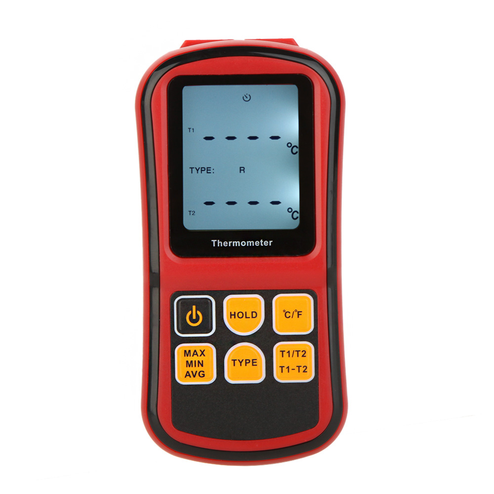 Digital Thermometer Dual-channel Temperature instrument diagnostic-tool Tester for K/J/T/E/R/S/N Thermocouple with LCD Backlight(China (Mainland))