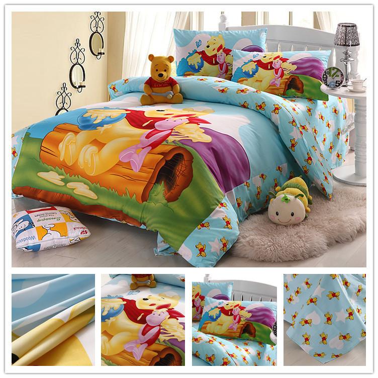 Cartoons Bedroom Sets For Teenagers : Cotton designer yellow bear kids boys Cartoon Bedding Set bed sets ...