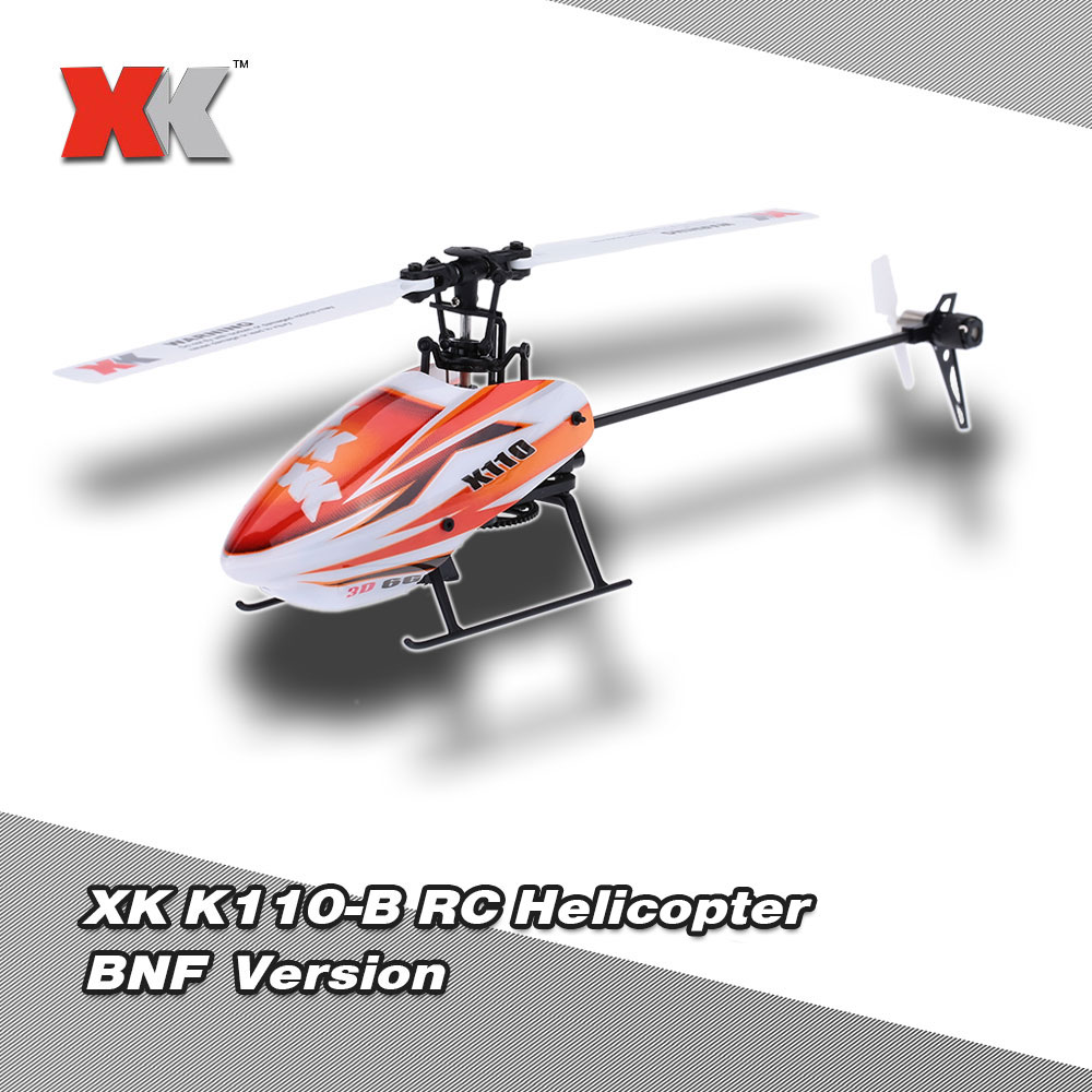 Original Brand XK Blast K110-B 6CH 3D 6G System Brushless Motor BNF Quadcopter Flybarless CP RC Helicopter Drone(China (Mainland))