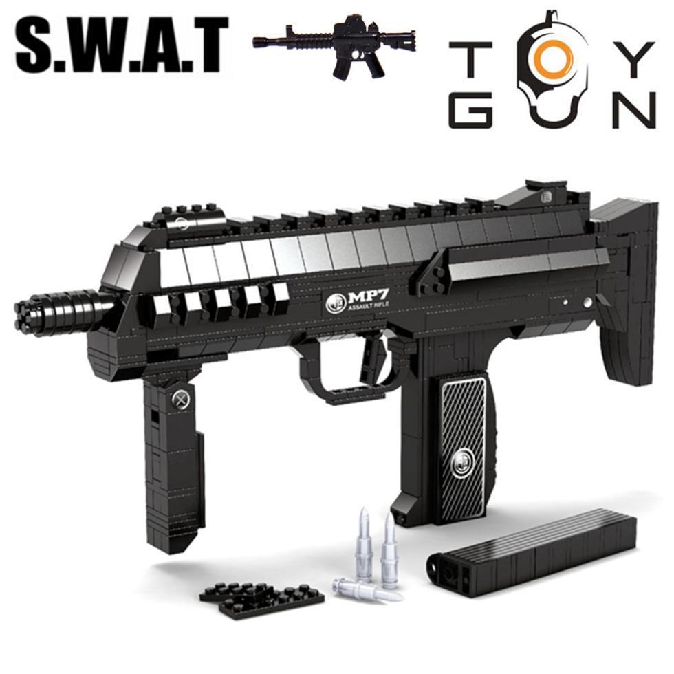 508pcs MP7 Submachine Assault GUN Weapon Arms Model 1:1 3D ...