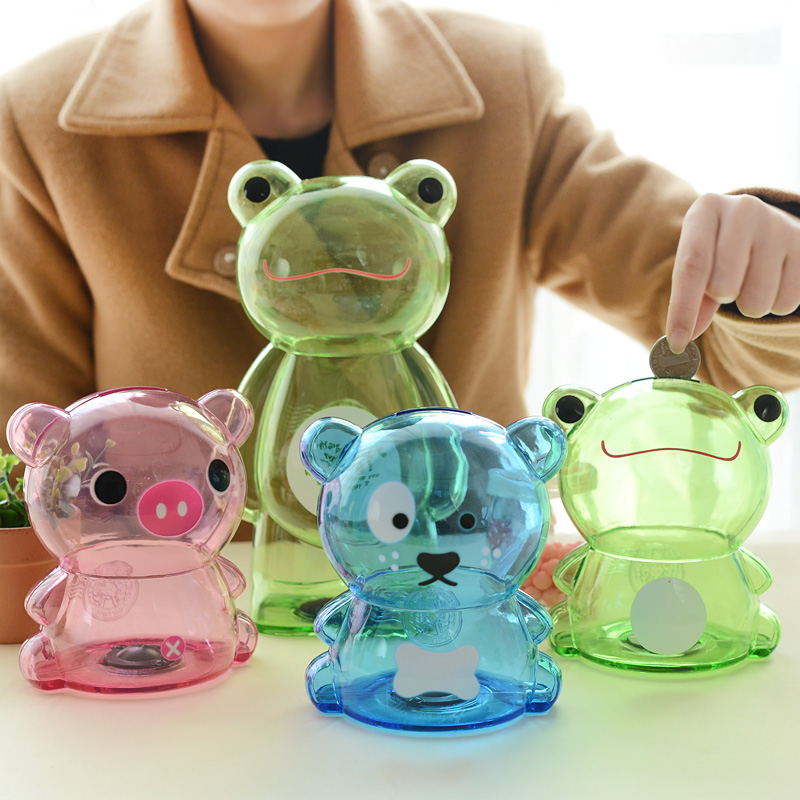 2pcs pair child kids cute gifts large small plastic piggy Plastic piggy banks for kids