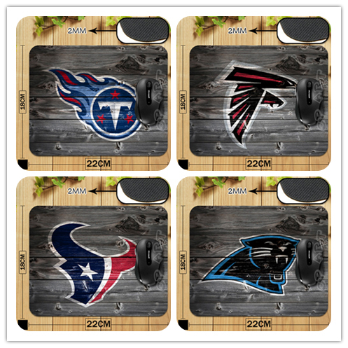 New Arrival AFC-SOUTH and NFC-SOUTH America Football Team Logo With Wood Wallpaper MouseMat Non-Skid Rubber Mouse Pads(China (Mainland))