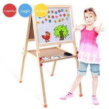 Wooden Writing Blackboard Multifunction Children  Magnetic Whitteboard Drawing Board Fantastic Easel Learning  Education Toys(China (Mainland))