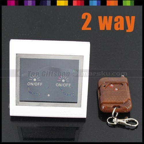 2 Way RF Wireless Remote Control LCD Touch Wall Switch + Free Shipping #838