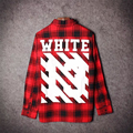 2016 Tyga cool oversized T shirts Tee men hip hop red Tartan Plaid top pyrex white