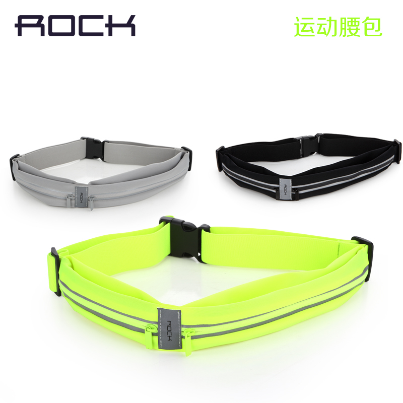 ROCK Outdoor waterproof fiber Sports Waist Bag small size for Men Women Running Pockets with earphone jack for mobile keys cash(China (Mainland))