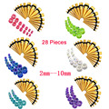 14Pair Ear Plugs Tunnel Acrylic Tapers Gauge 2 10mm Stretcher Plug Kit Piercing Women Men Body