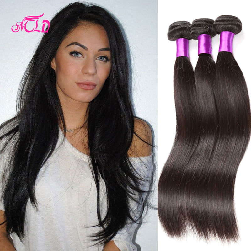 Brazilian Straight Virgin Hair 4 Pcs Unprocessed Virgin Brazilian Human Hair Bundles 8-30Queen Human Hair Products Cheap Price<br><br>Aliexpress