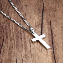 Buy Fashion Cross Crucifix Jesus Piece Pendant & Necklace Stainless Steel Gold Silver Color Women Men Chain Christian Jewelry Gifts for $4.19 in AliExpress store