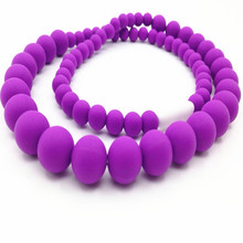 Classic Teething Necklace FDA Approved Silicone Jewels Baby Teethers Baby Chew Necklace Silicone Beads(China (Mainland))