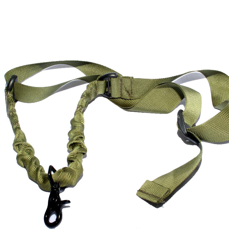 Tactical Nylon Single point Bungee Rifle Gun Sling For Airsoft Paintball(China (Mainland))