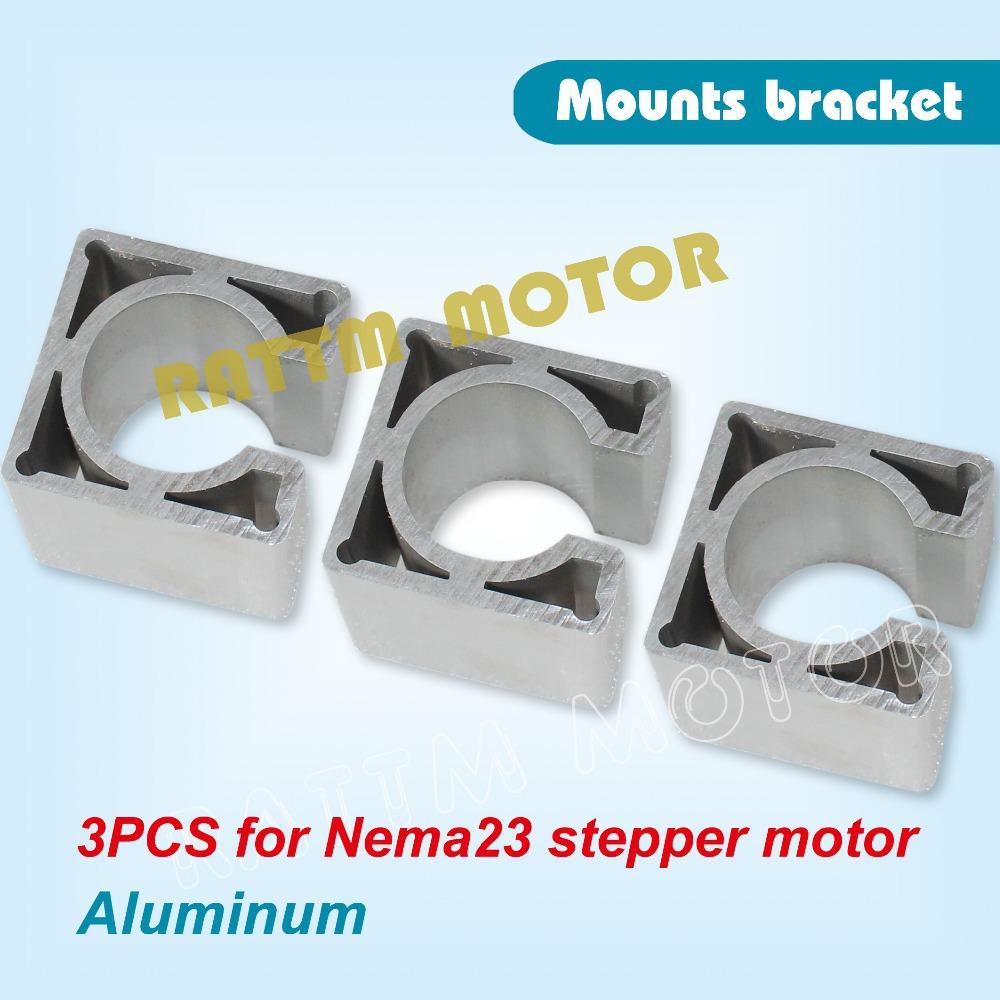 Buy nema 23 stepper motor aluminum mount clamp bracket for for Nema 34 stepper motor mount