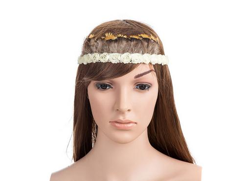 Ladies Flapper Headband Feather Flower 1930's 1920's Gothic Rose Head Band Accessories(China (Mainland))