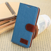 2016New Jeans Denim Book Style Wallet Cover Leather Case With Stand Card Slots Flip Case For Samsung Galaxy Note3 Phone Bag Case