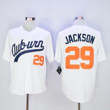 2016 New Men's cheap Throwback VINTAGE Baseball jersey White #29 Bo Jackson Jerseys(China (Mainland))