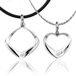 free shipping  925 silver  heart necklace pendant for lovers' wholesales faoctry price fine jewelry