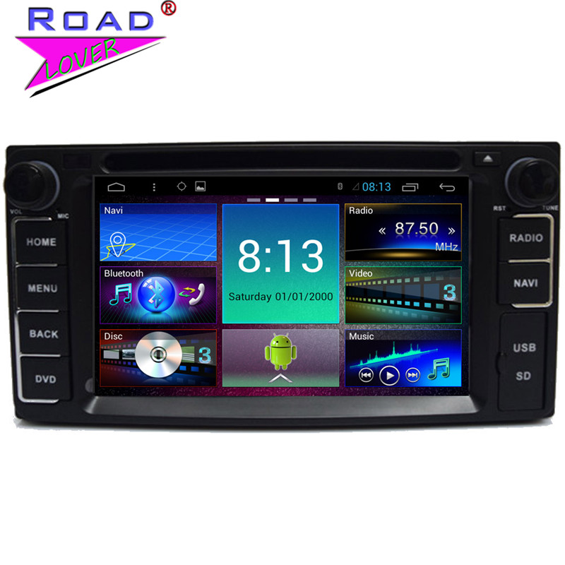 6.2Inch 2Din Android 4.4 Quad Core Car Media Center DVD Player For Toyota Corolla / RAV4 /Camry With Stereo GPS Radio Navigation(China (Mainland))