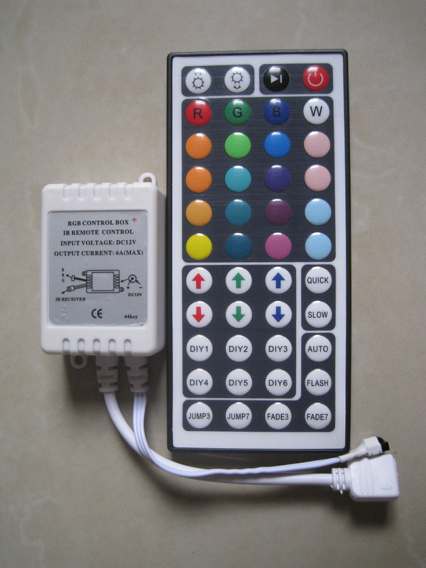 12V 44Key IR Remote Controller for LED 3528 5050 RGB Strip Lights Mini Cnontroller<br><br>Aliexpress