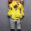Hot Sale 2016 Handsome Boy Clothing Set Autumn Spring Cotton Children Suits Baby boys 2pcs Sets