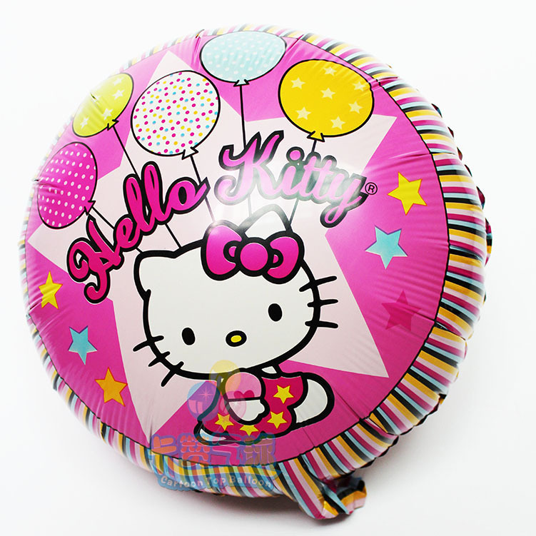 The Newest 100pcs/lot Round Hello Kitty Balloon For Baby Birthday Party Decoration 18Inch ballon Kitty balon Baby Shower globos