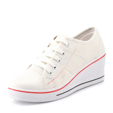 Slope with new spring shoes to help low canvas shoes women casual shoes nurse shoes retro jordans shoes(China (Mainland))