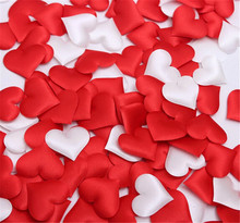 cheap ! 100pcs Fabric Heart dia 3.5x3.5cm / 2x1.5cm Wedding Party Confetti Table Decoration birthday party Decorative Supplies(China (Mainland))